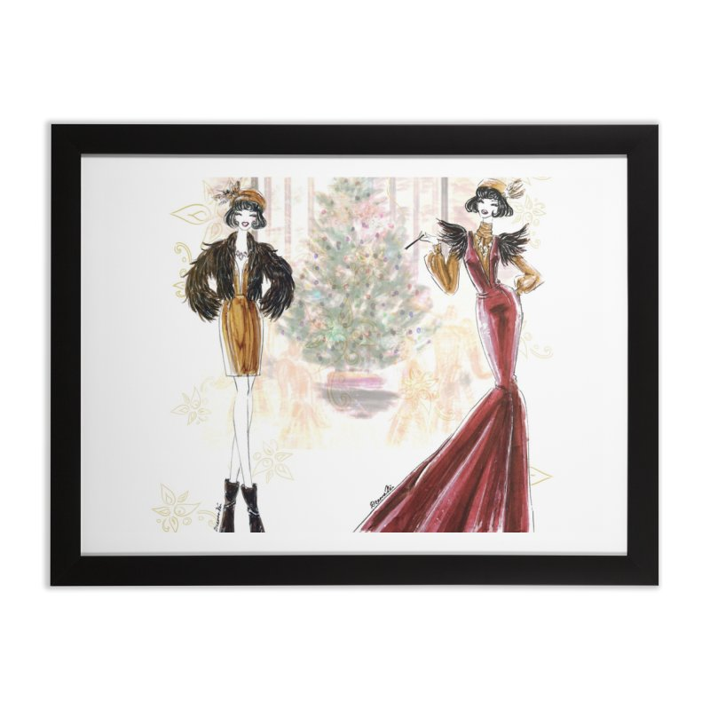 Merry Stylish Christmas Home Framed Fine Art Print by Deanna Kei's Artist Shop
