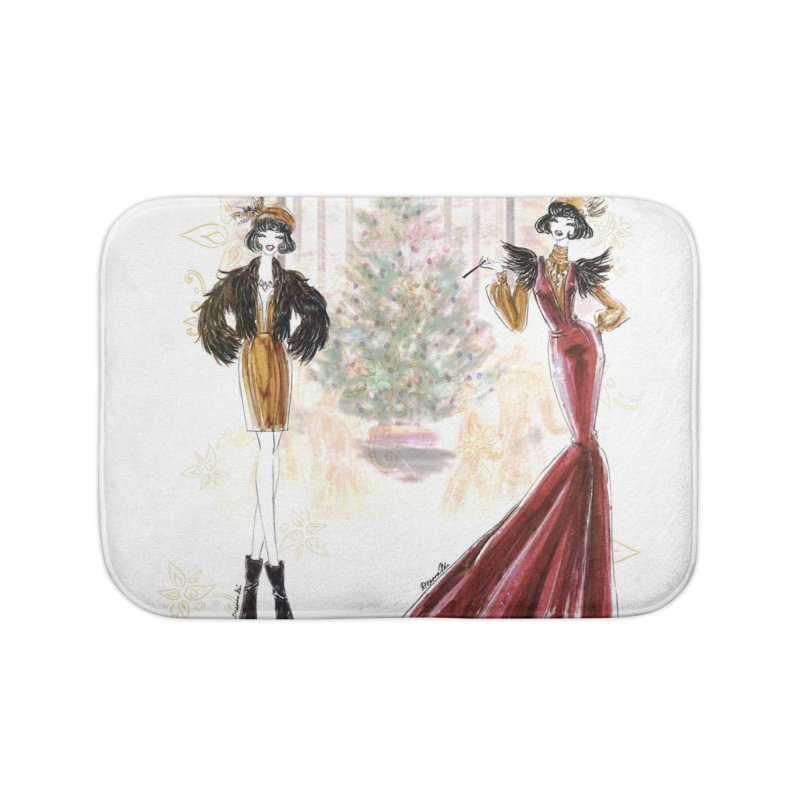 Merry Stylish Christmas Home Bath Mat by Deanna Kei's Artist Shop