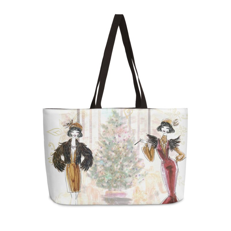 Merry Stylish Christmas Accessories Weekender Bag Bag by Deanna Kei's Artist Shop