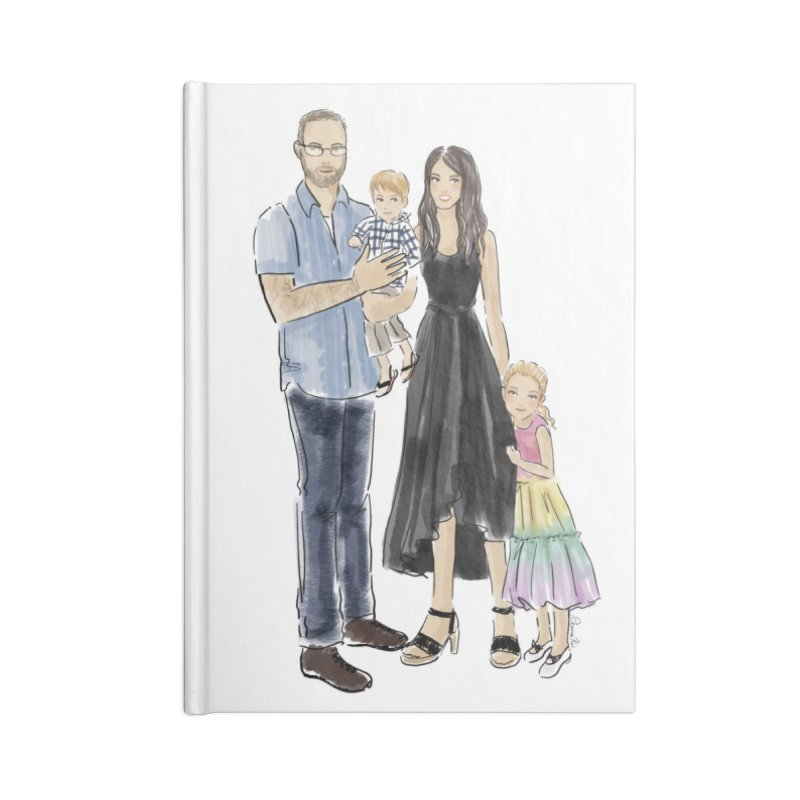 Custom Family Portrait Accessories Notebook by Deanna Kei's Artist Shop