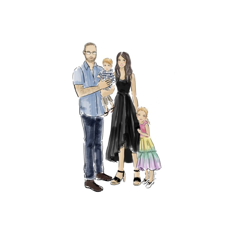 Custom Family Portrait by Deanna Kei's Artist Shop