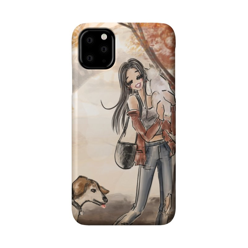 Autumn Stroll with Pets Accessories Phone Case by Deanna Kei's Artist Shop