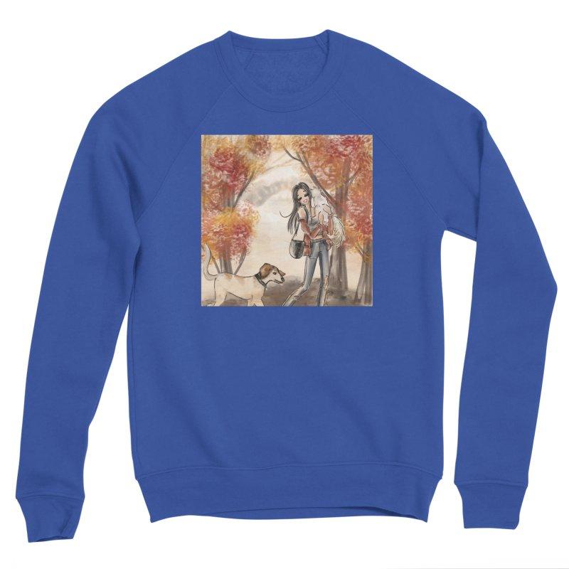 Autumn Stroll with Pets Men's Sweatshirt by Deanna Kei's Artist Shop