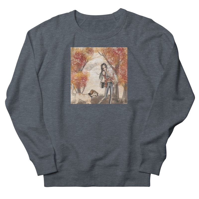 Autumn Stroll with Pets Men's French Terry Sweatshirt by Deanna Kei's Artist Shop