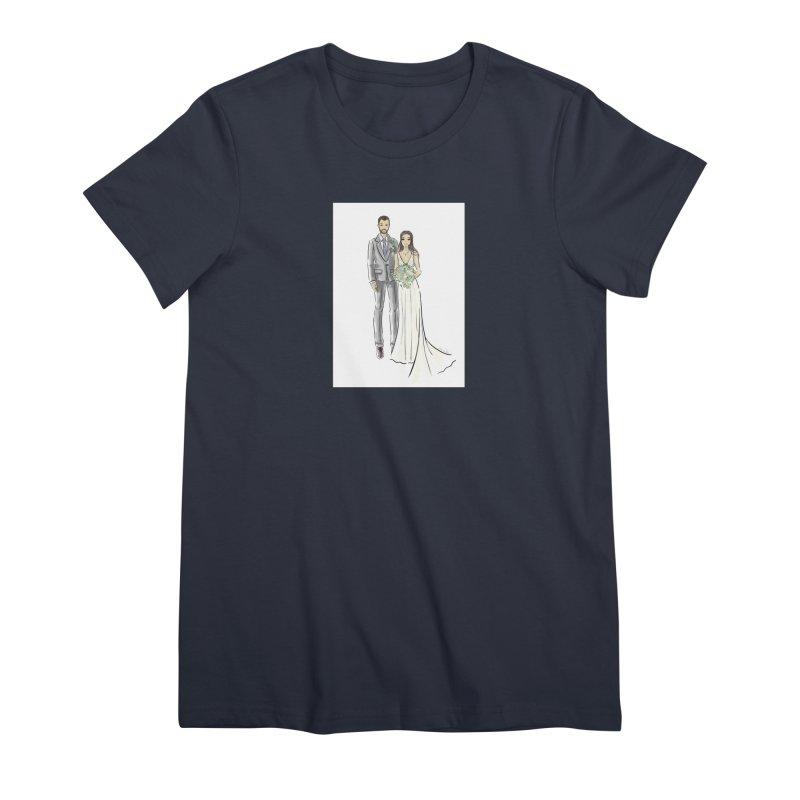 Custom Wedding Women's Premium T-Shirt by Deanna Kei's Artist Shop