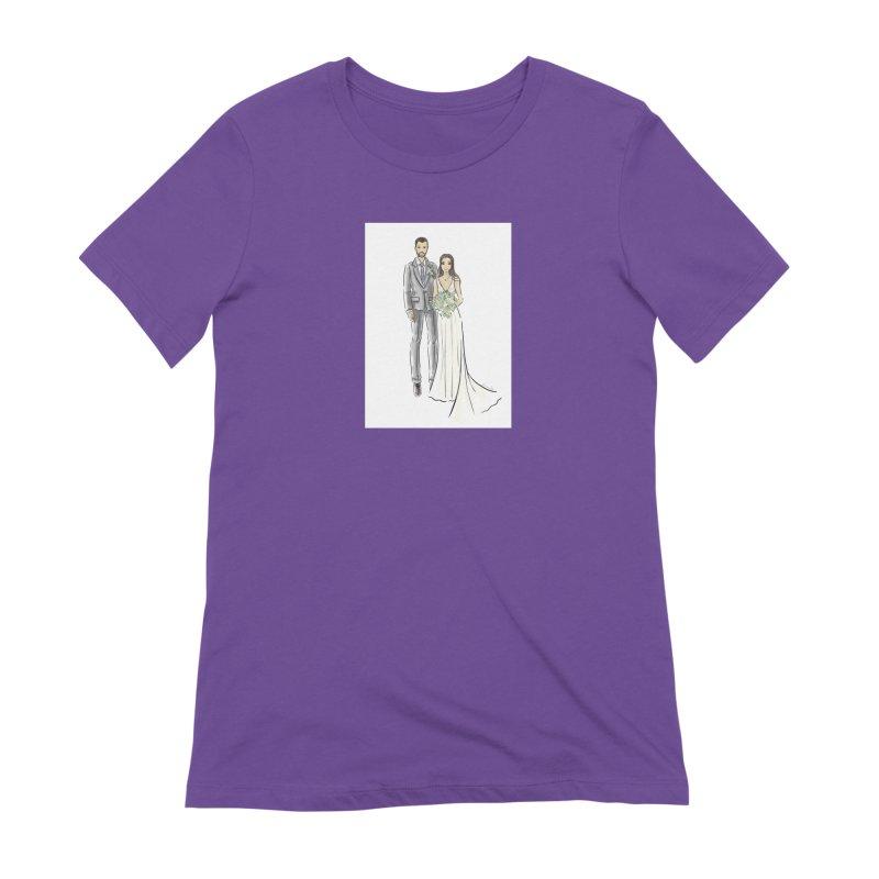 Custom Wedding Women's Extra Soft T-Shirt by Deanna Kei's Artist Shop