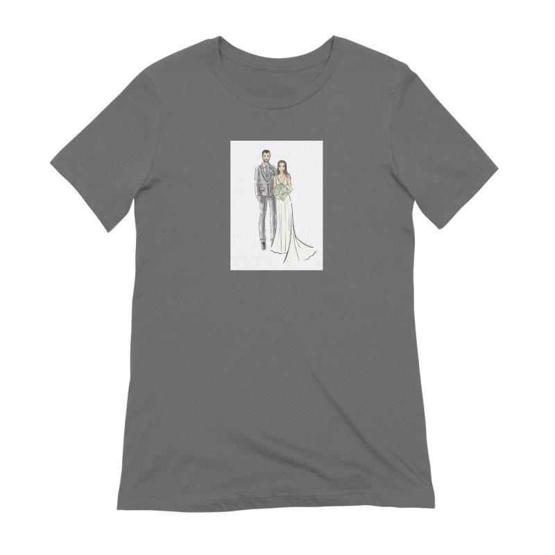 Custom Wedding Women's T-Shirt by Deanna Kei's Artist Shop