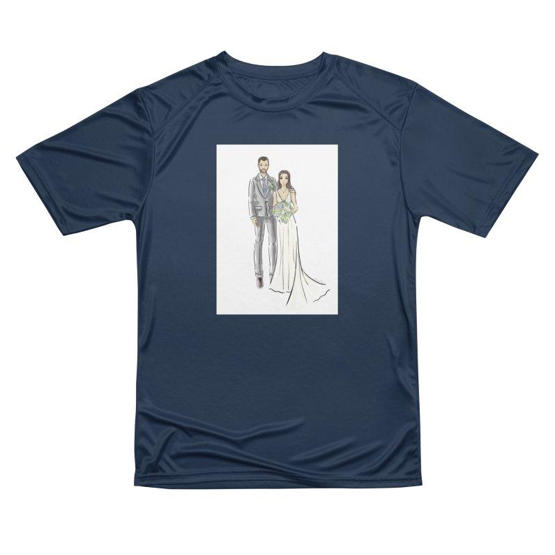 Custom Wedding Women's Performance Unisex T-Shirt by Deanna Kei's Artist Shop