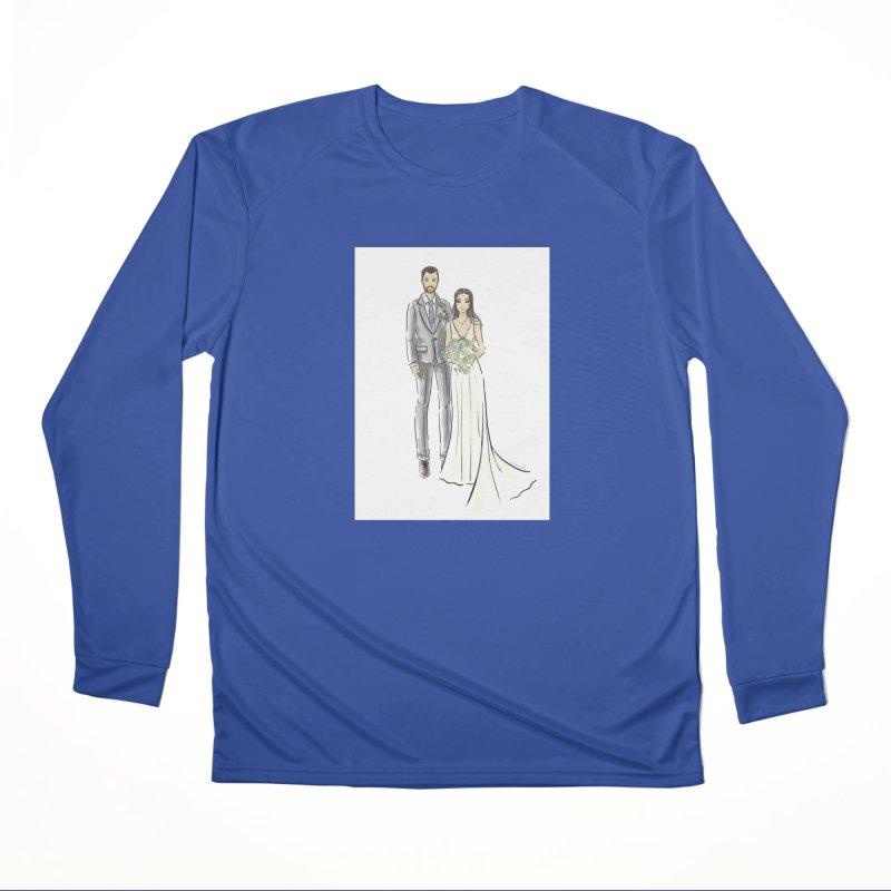 Custom Wedding Men's Performance Longsleeve T-Shirt by Deanna Kei's Artist Shop