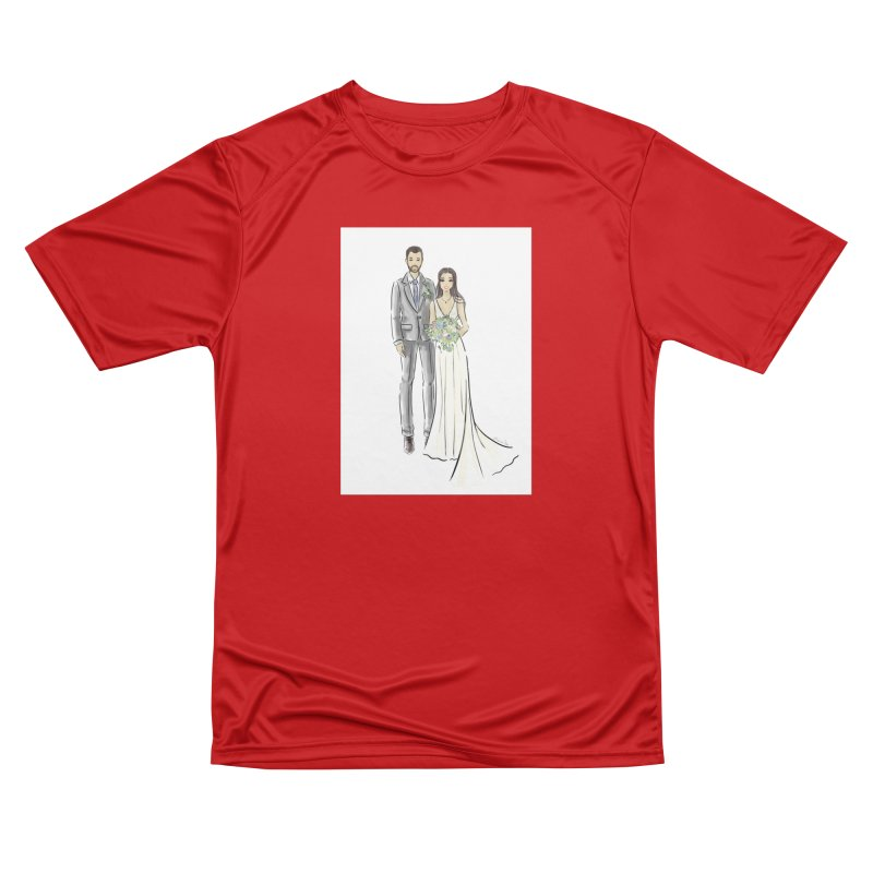 Custom Wedding Men's Performance T-Shirt by Deanna Kei's Artist Shop