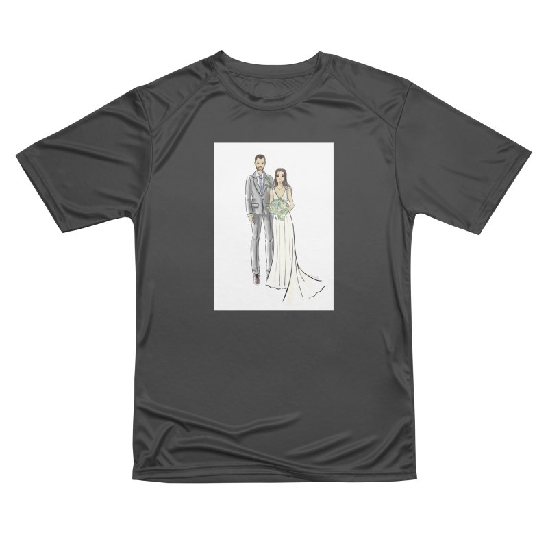 Custom Wedding Women's Performance Unisex T-Shirt by Deanna Kei's Artist Shop