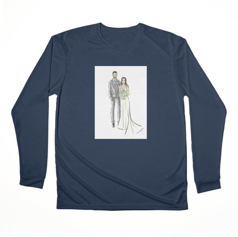 Custom Wedding Women's Performance Unisex Longsleeve T-Shirt by Deanna Kei's Artist Shop