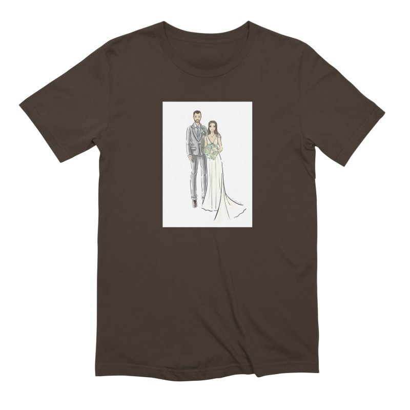Custom Wedding Men's Extra Soft T-Shirt by Deanna Kei's Artist Shop