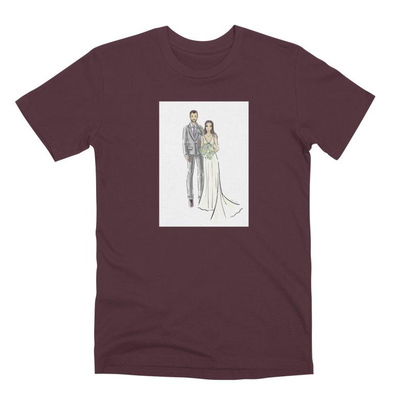 Custom Wedding Men's Premium T-Shirt by Deanna Kei's Artist Shop