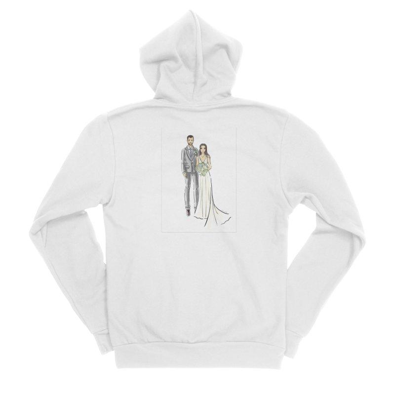Custom Wedding Men's Sponge Fleece Zip-Up Hoody by Deanna Kei's Artist Shop