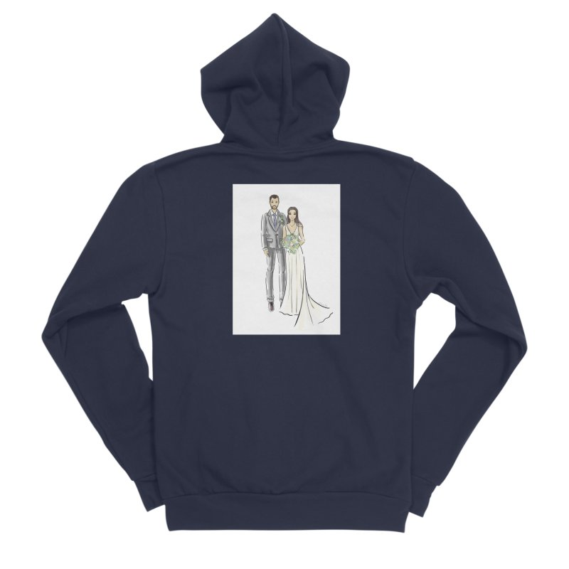 Custom Wedding Women's Sponge Fleece Zip-Up Hoody by Deanna Kei's Artist Shop