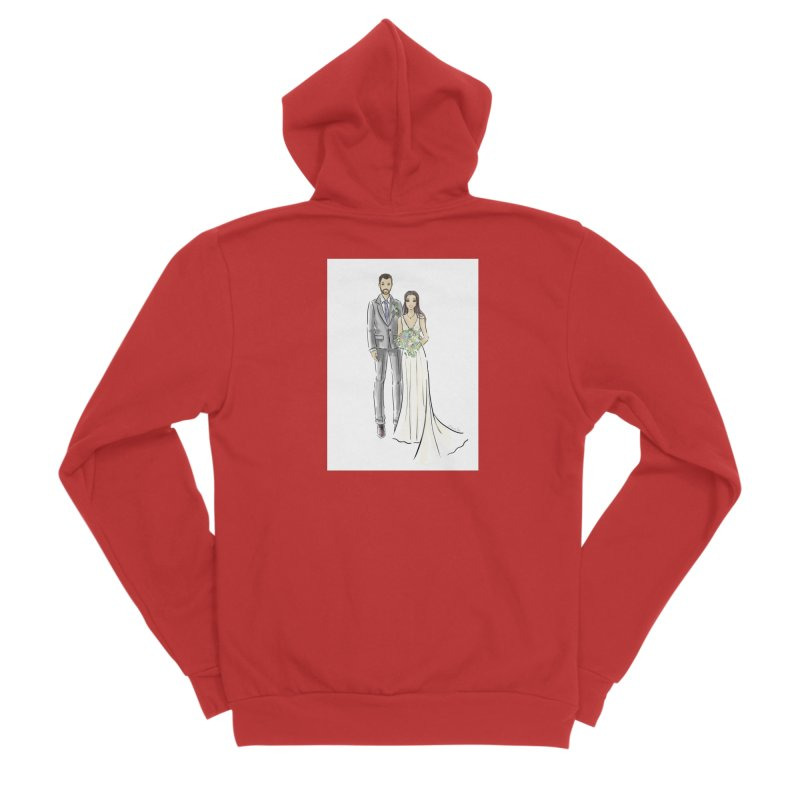 Custom Wedding Men's Zip-Up Hoody by Deanna Kei's Artist Shop