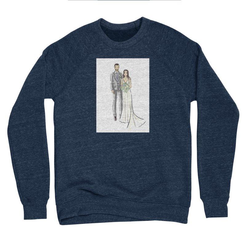 Custom Wedding Men's Sponge Fleece Sweatshirt by Deanna Kei's Artist Shop