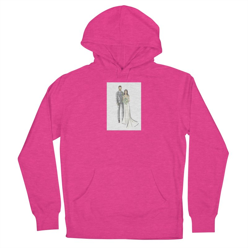 Custom Wedding Women's French Terry Pullover Hoody by Deanna Kei's Artist Shop