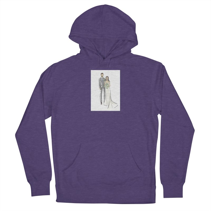 Custom Wedding Men's French Terry Pullover Hoody by Deanna Kei's Artist Shop