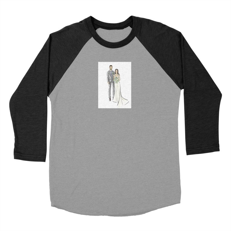 Custom Wedding Men's Baseball Triblend Longsleeve T-Shirt by Deanna Kei's Artist Shop