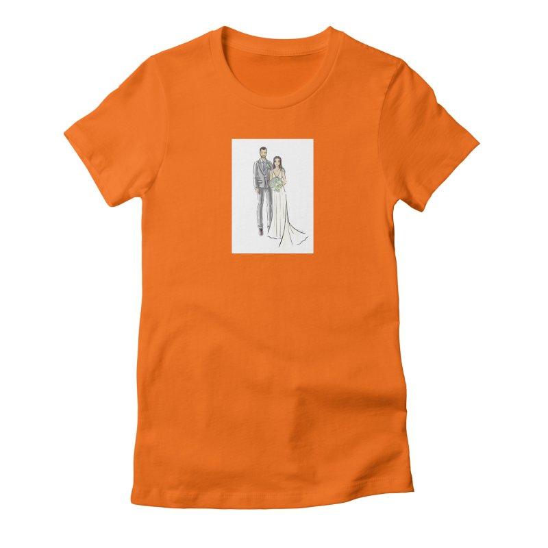 Custom Wedding Women's Fitted T-Shirt by Deanna Kei's Artist Shop