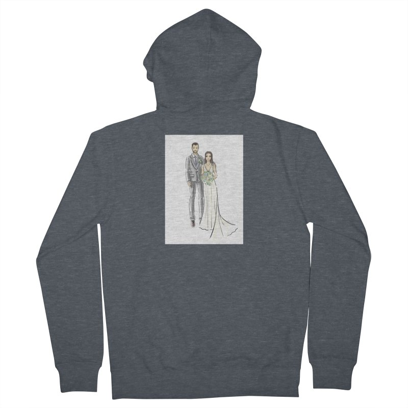 Custom Wedding Women's French Terry Zip-Up Hoody by Deanna Kei's Artist Shop