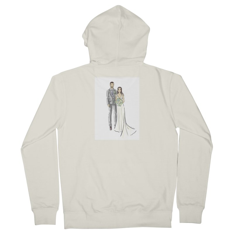 Custom Wedding Men's French Terry Zip-Up Hoody by Deanna Kei's Artist Shop