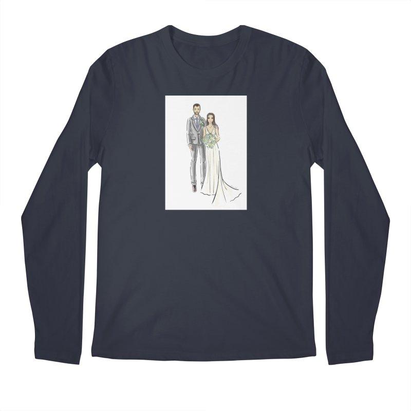 Custom Wedding Men's Regular Longsleeve T-Shirt by Deanna Kei's Artist Shop