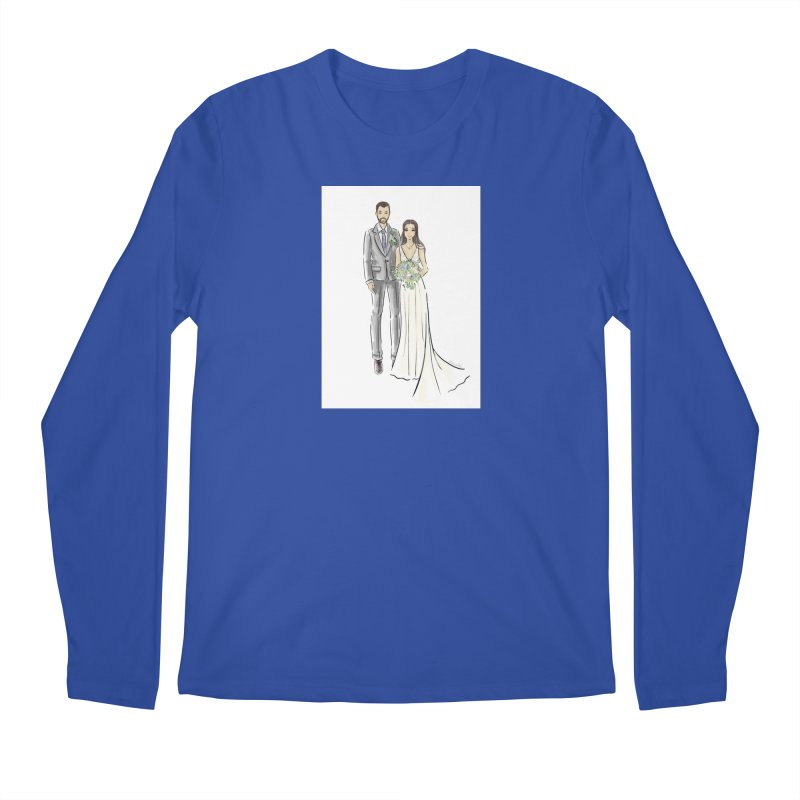 Custom Wedding Men's Regular Longsleeve T-Shirt by Deanna Kei's Artist Shop