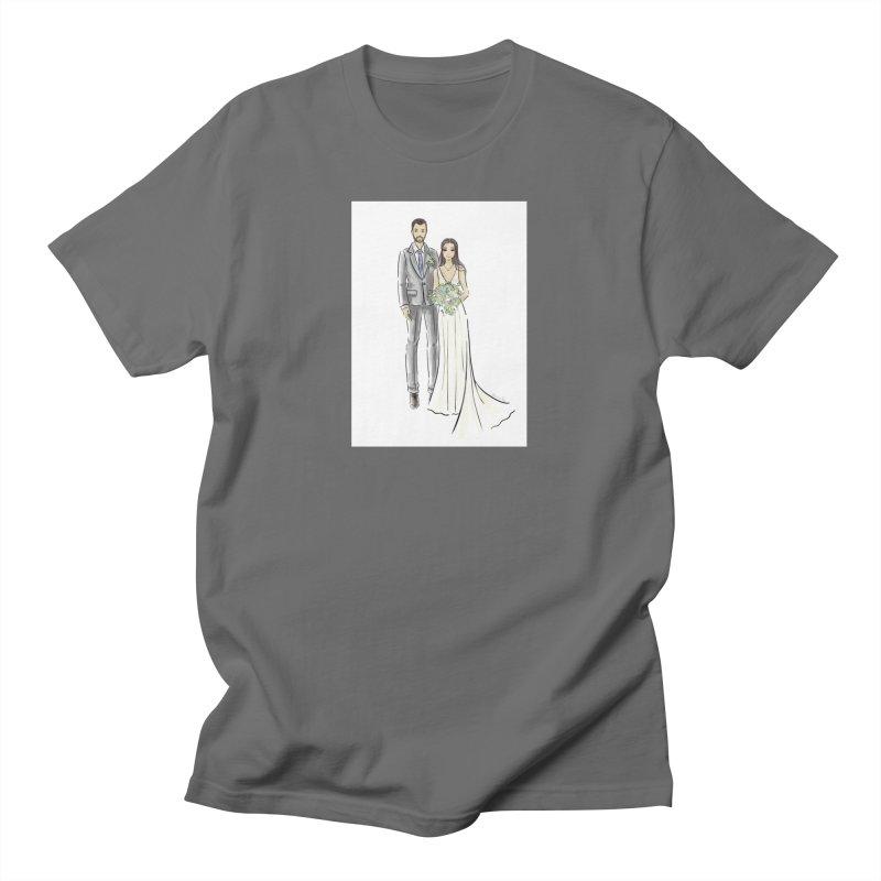 Custom Wedding Men's T-Shirt by Deanna Kei's Artist Shop