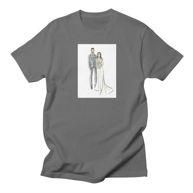 Custom Wedding Men's Regular T-Shirt by Deanna Kei's Artist Shop