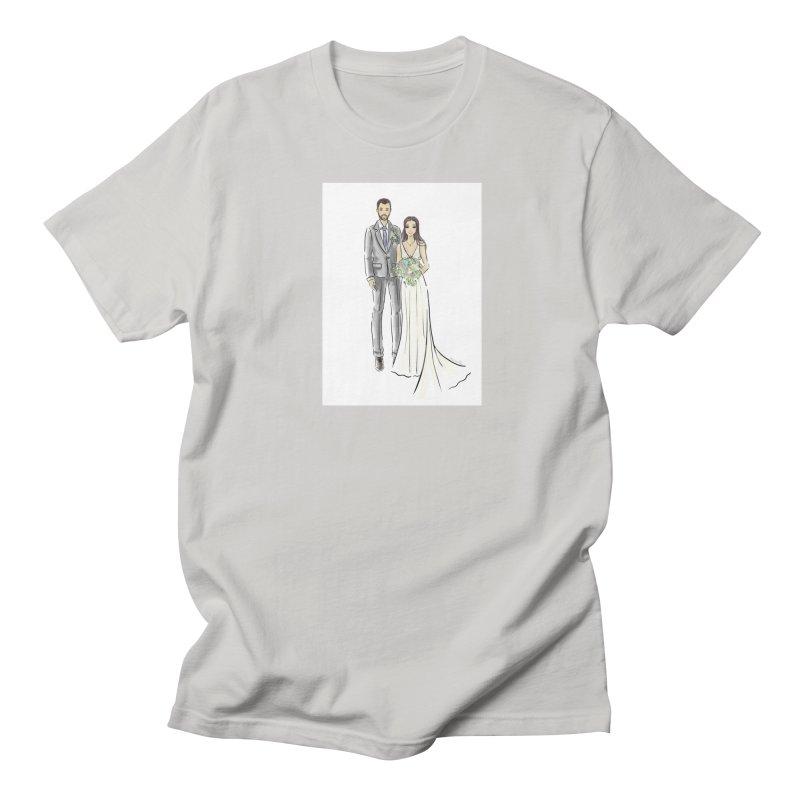 Custom Wedding Men's Regular T-Shirt by Deanna Kei's Artist Shop