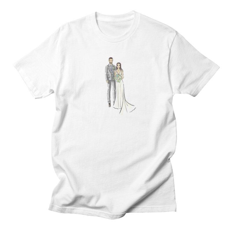 Custom Wedding Women's Regular Unisex T-Shirt by Deanna Kei's Artist Shop