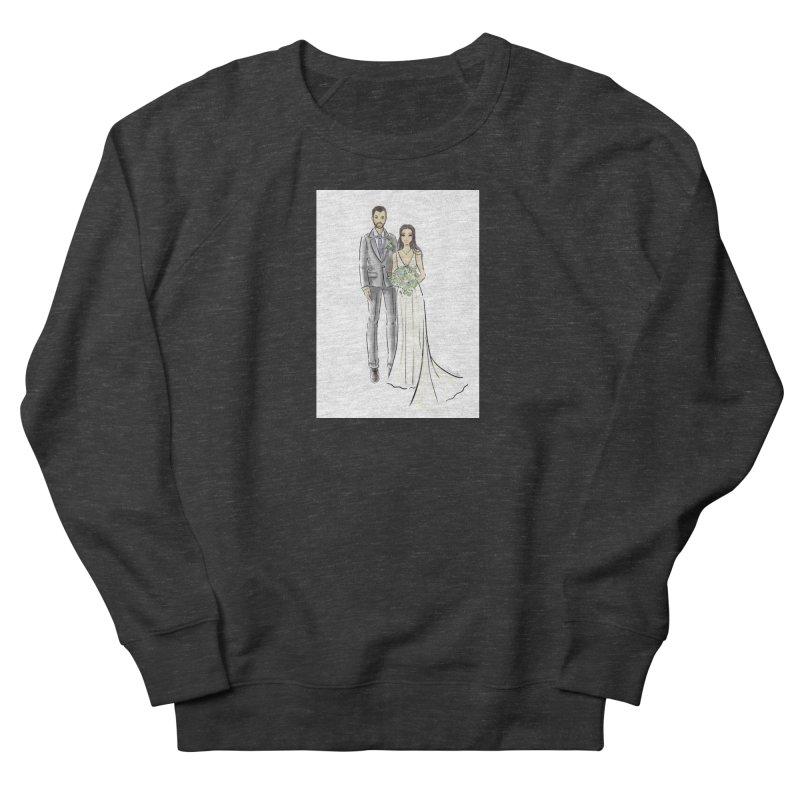 Custom Wedding Women's French Terry Sweatshirt by Deanna Kei's Artist Shop