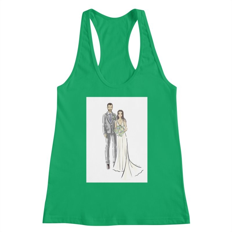 Custom Wedding Women's Tank by Deanna Kei's Artist Shop
