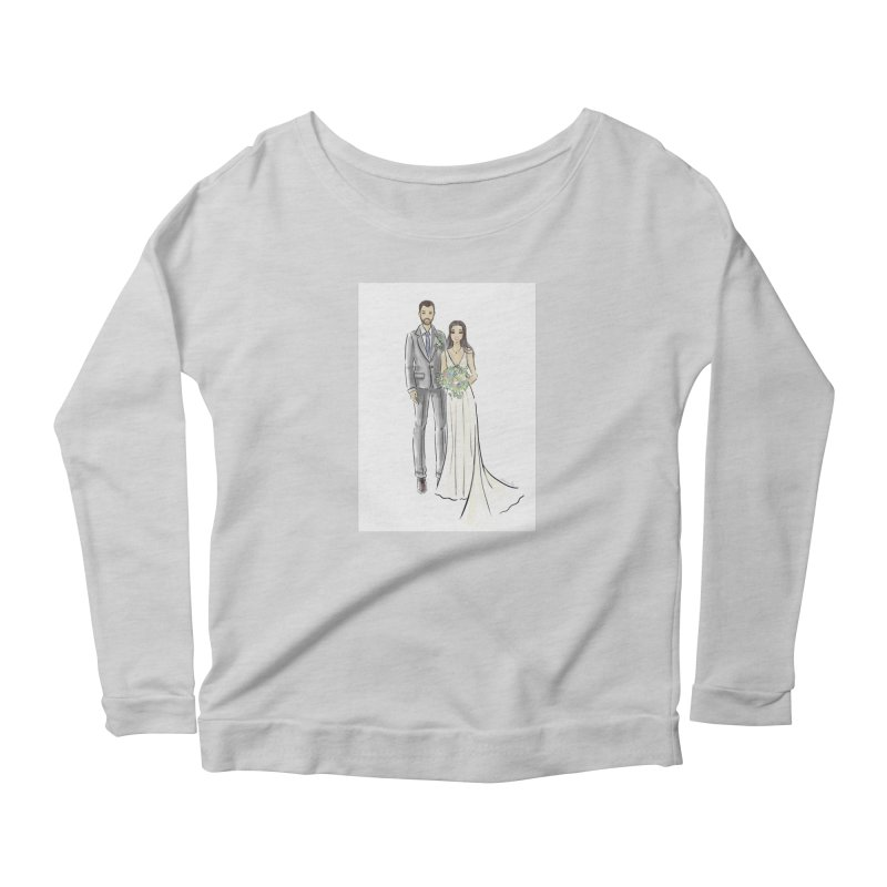 Custom Wedding Women's Scoop Neck Longsleeve T-Shirt by Deanna Kei's Artist Shop