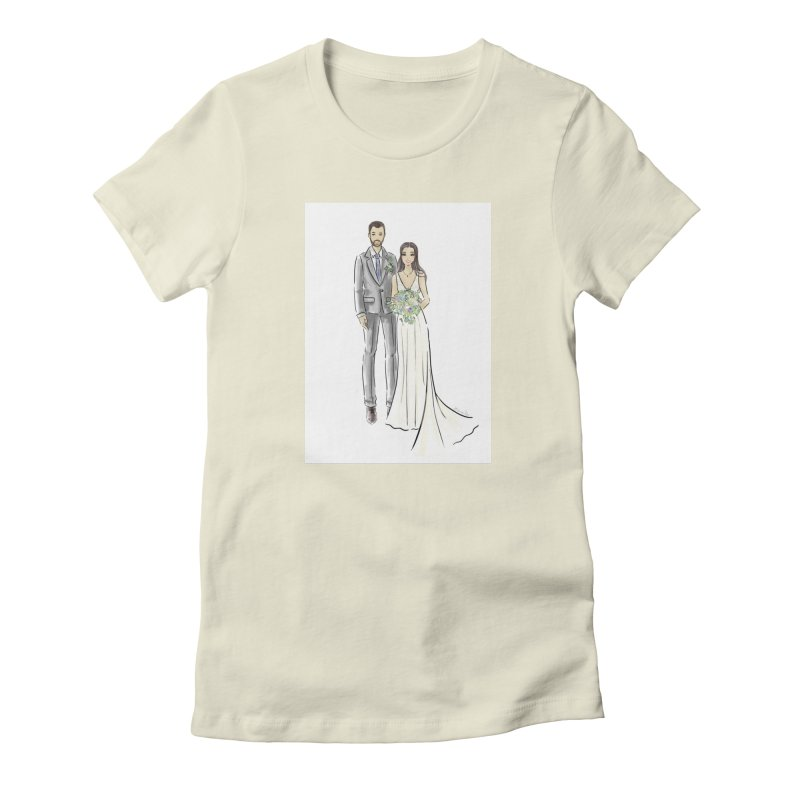 Custom Wedding Women's Fitted T-Shirt by Deanna Kei's Artist Shop
