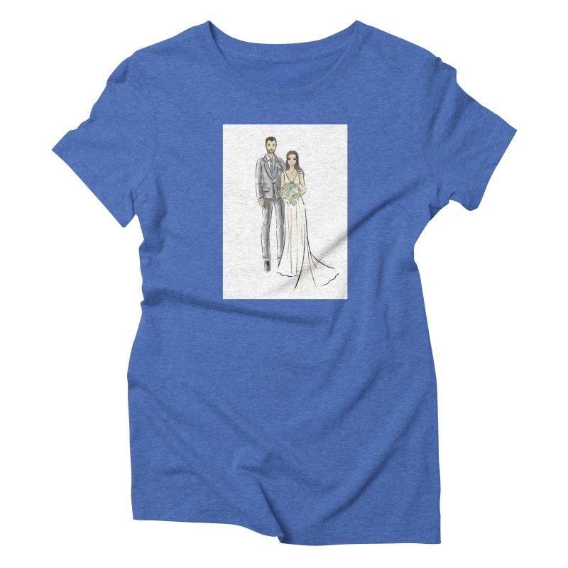 Custom Wedding Women's Triblend T-Shirt by Deanna Kei's Artist Shop