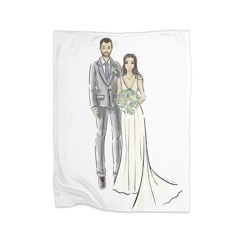 Custom Wedding Home Fleece Blanket Blanket by Deanna Kei's Artist Shop
