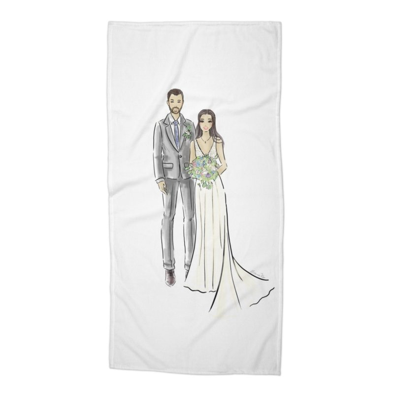 Custom Wedding Accessories Beach Towel by Deanna Kei's Artist Shop