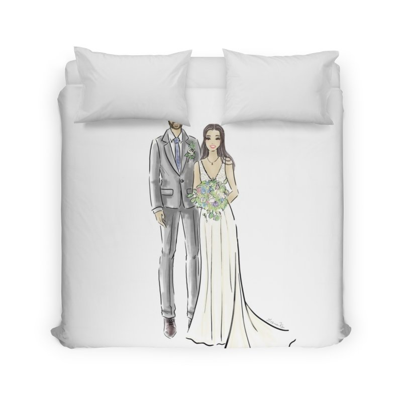 Custom Wedding Home Duvet by Deanna Kei's Artist Shop