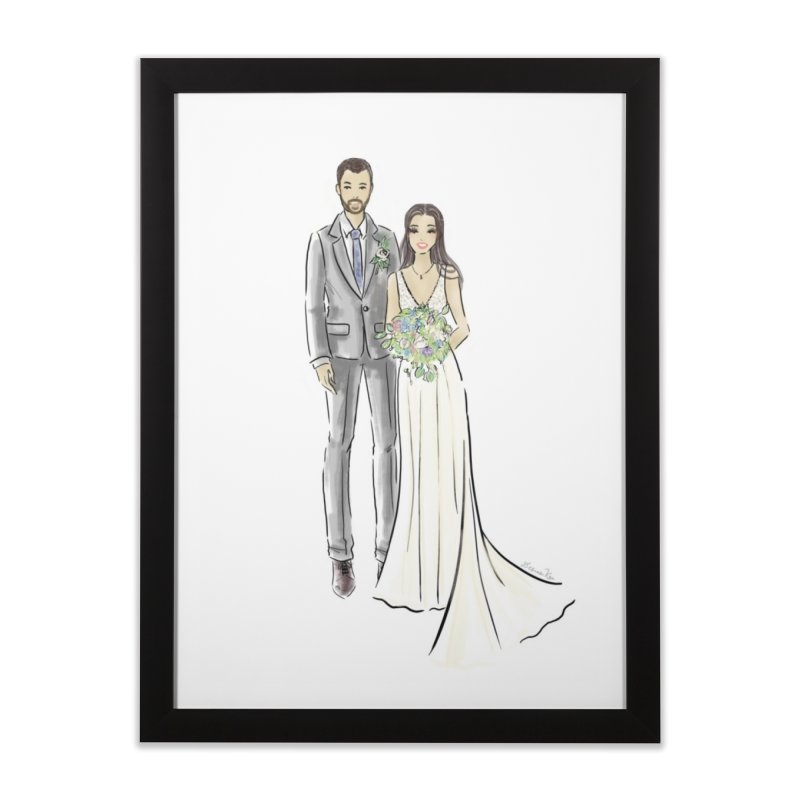 Custom Wedding Home Framed Fine Art Print by Deanna Kei's Artist Shop