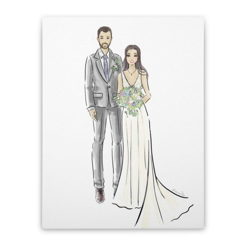 Custom Wedding Home Stretched Canvas by Deanna Kei's Artist Shop
