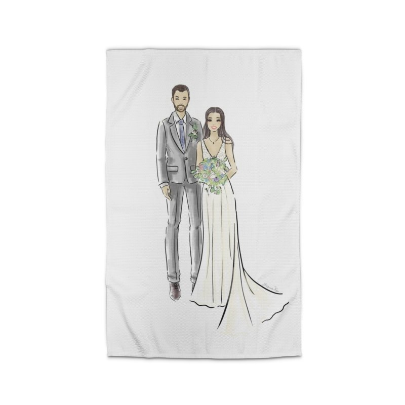 Custom Wedding Home Rug by Deanna Kei's Artist Shop