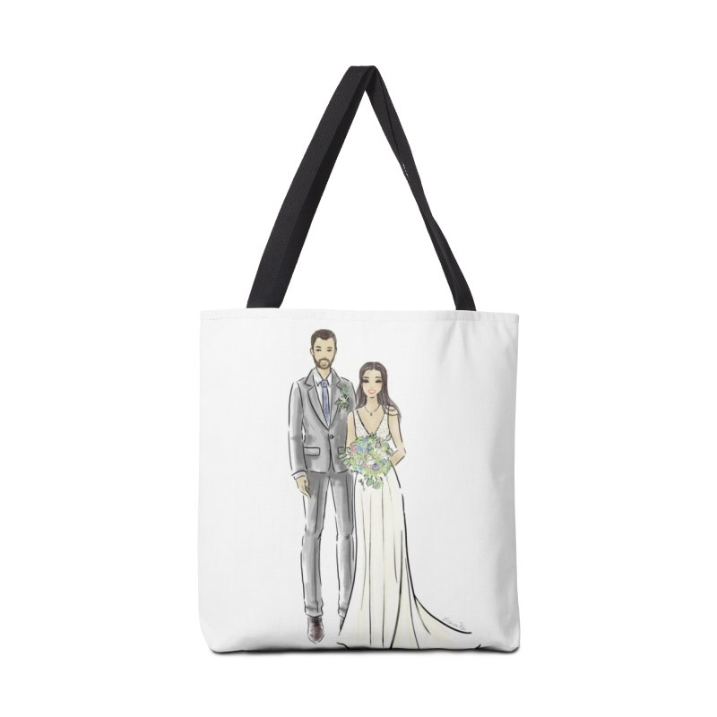 Custom Wedding Accessories Tote Bag Bag by Deanna Kei's Artist Shop