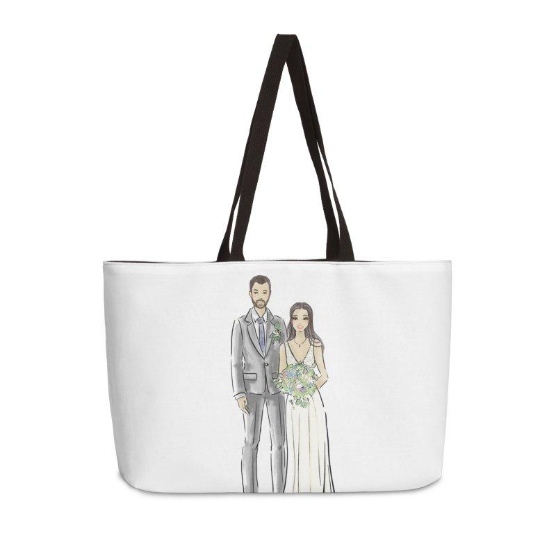 Custom Wedding Accessories Weekender Bag Bag by Deanna Kei's Artist Shop