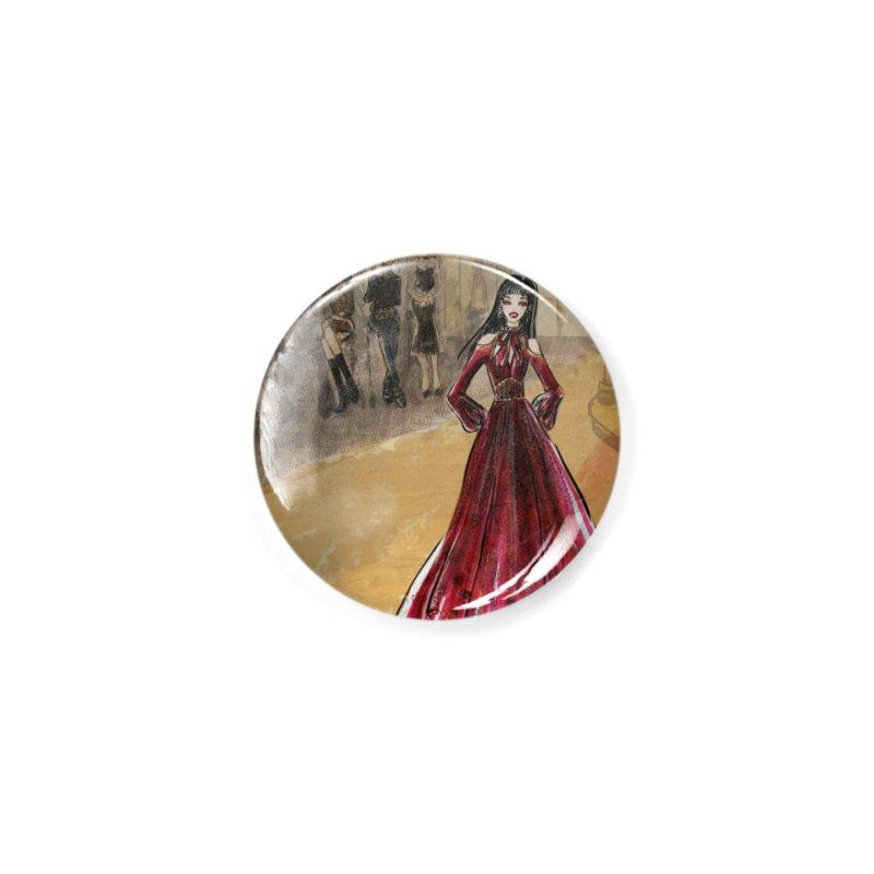 Fashion Week Runway Accessories Button by Deanna Kei's Artist Shop