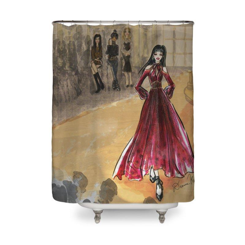 Fashion Week Runway Home Shower Curtain by Deanna Kei's Artist Shop