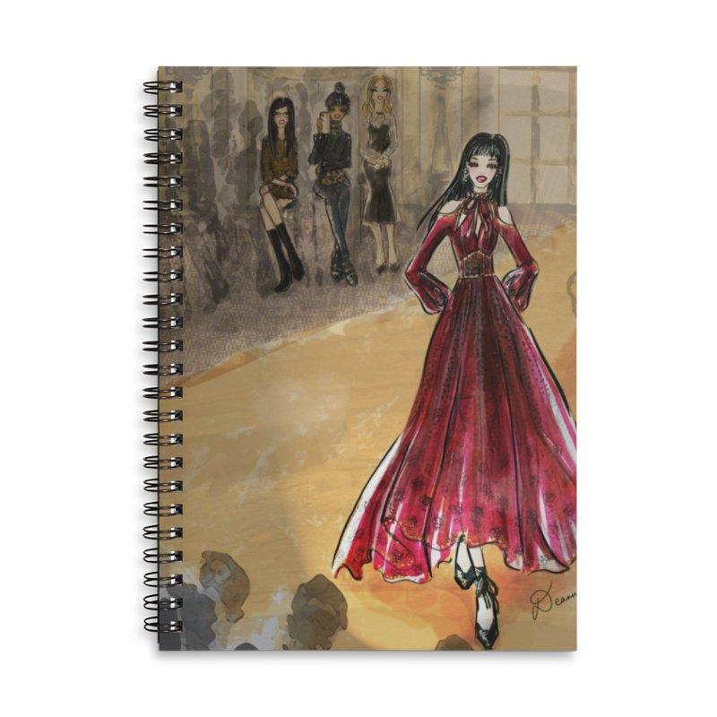 Fashion Week Runway Accessories Notebook by Deanna Kei's Artist Shop